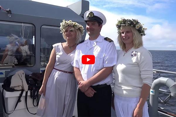 VIDEO: Rēzekne ieskandina svētkus Rīgas jūras līcī