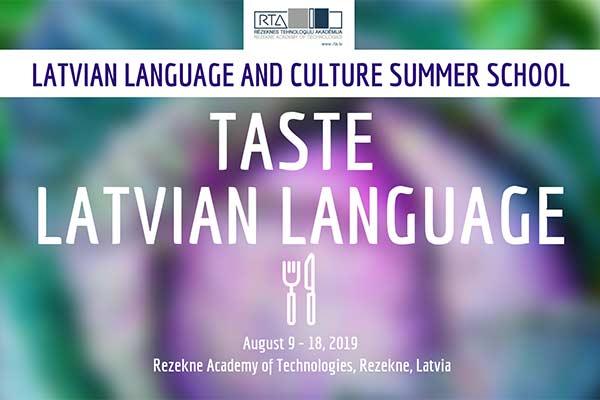 """RTA notiks starptautiskā latviešu valodas un kultūras vasaras skola """"Izgaršo latviešu valodu"""""""