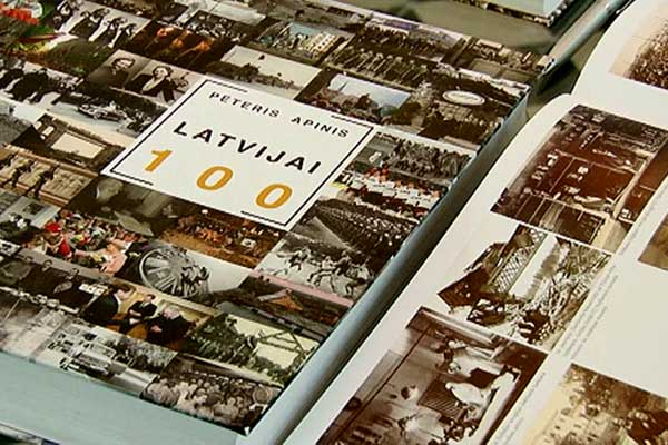 """Bibliotēkā pieejama P.Apiņa grāmata """"LATVIJAI 100"""""""