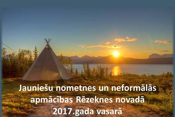 Jauniešu vasaras nometnes un neformālās apmācības Rēzeknes novadā