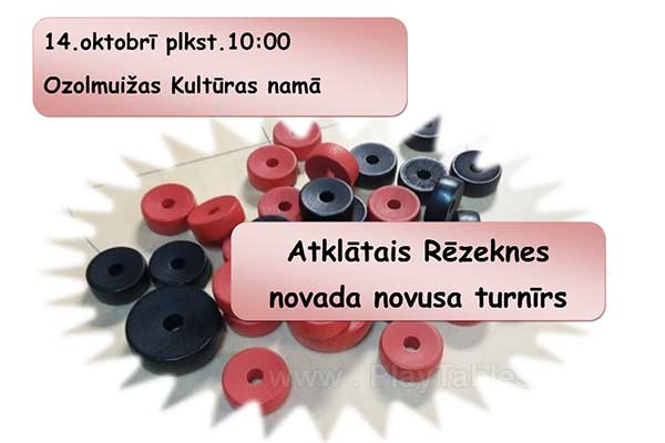 Aicina uz Rēzekne novada novusa turnīru Ozolmuižā