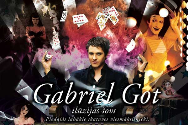 Rēzeknē viesosies iluzionists Gabriels Gots